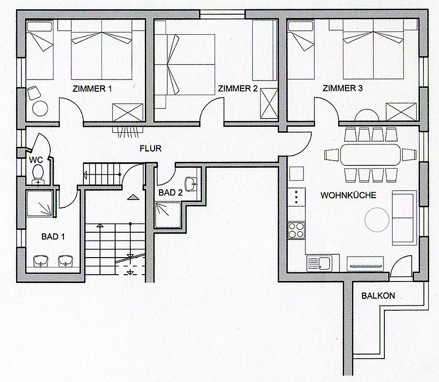 "Bic Floor Plan: Apartment ""Isabell"""